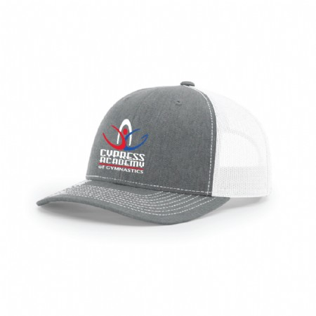Richardson Snapback Trucker Cap Heather Grey/White