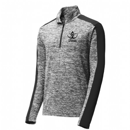 PosiCharge Electric Heather Colorblock 1/4 Zip Pullover